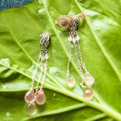 Lotus Bud Gemstones Earrings - nagicia