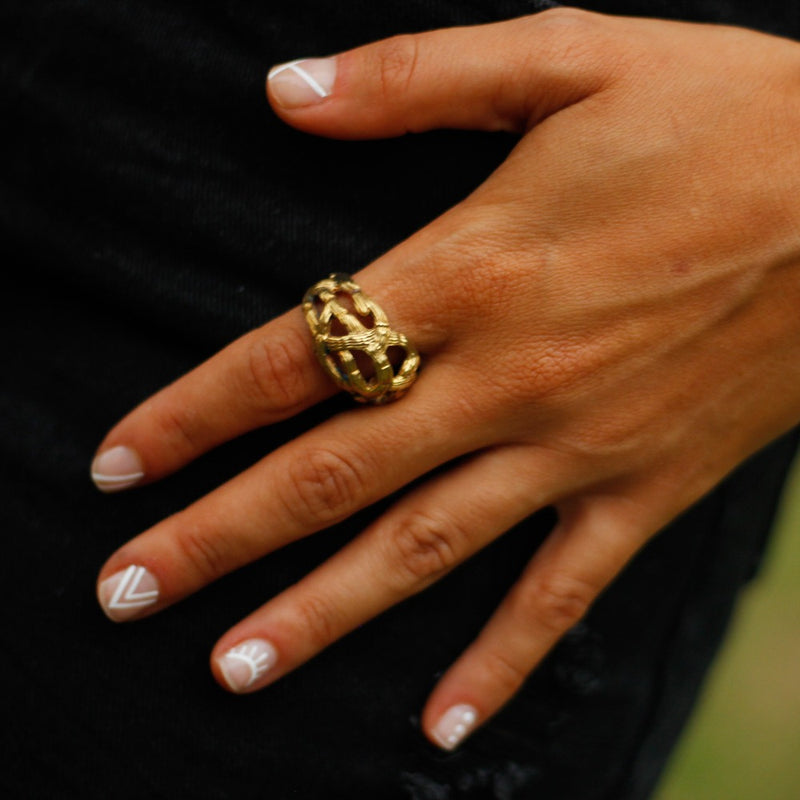 Ocean Bamboo Dome Ring-nagicia-jewelry-handcrafted-in-bali