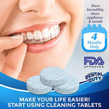Retainer And Denture Cleaning Tablets (60 Count) With Case