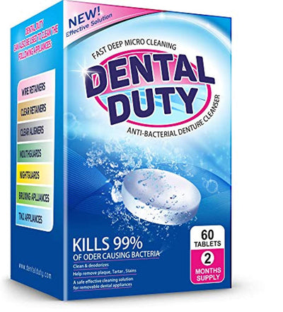 Dental Duty Retainer and Denture Cleaning Tablets