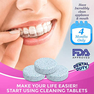 120 Retainer and Denture Cleaning Tablets (4 Months Supply)