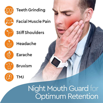Professional Thin FIT Mouth Guard For Grinding Teeth - 4 Pack - Moldable Night Guards For Teeth Grinding, Bruxism & Teeth Clenching, Come with Antibacterial Dental Case