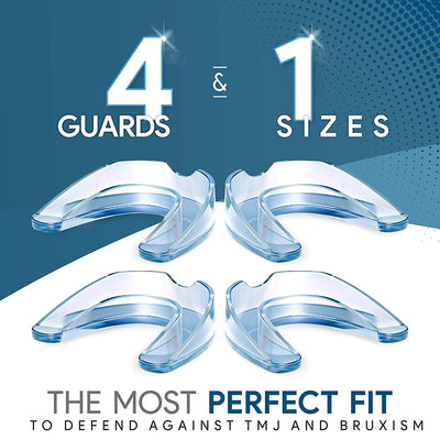 Night Time Dental Mouth Guard - 4 Pack (Thin, Small)