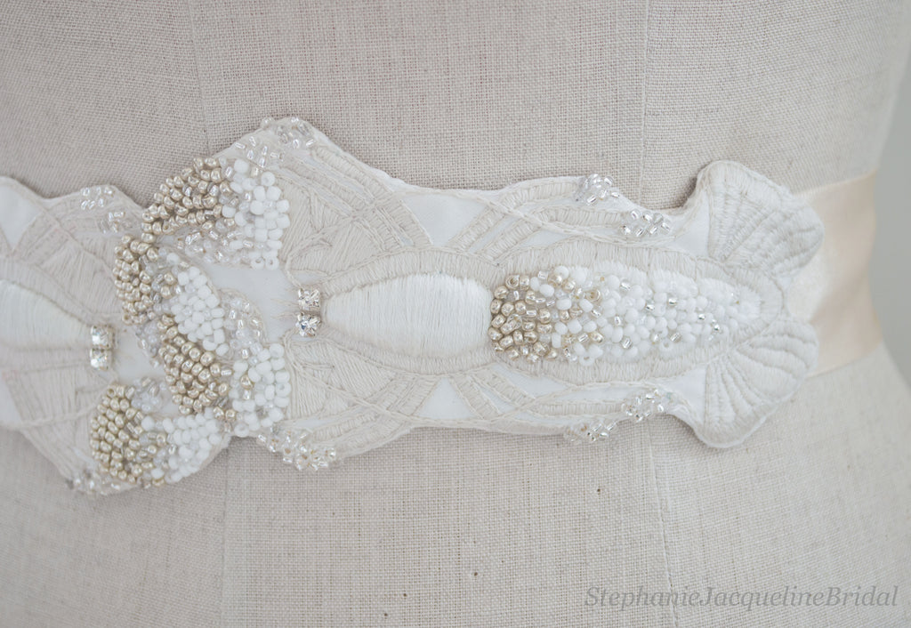 Embroidered Lobster Bridal Belt