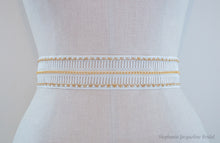 Hand embellished Alyson mini chain bridal belt
