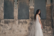 Stephanie Jacqueline Bridal styled photoshoot at Asylum chapel with Stephanie Allin dress and Serena Bridal cape