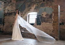 Stephanie Jacqueline Bridal styled photoshoot at Asylum chapel with Stephanie Allin dress Amelia Belt and Serena Bridal cape