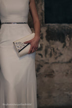 Stephanie Jacqueline Bridal styled photoshoot at Asylum chapel with Stephanie Allin dress Alexa Belt and bespoke embellished clutch bag