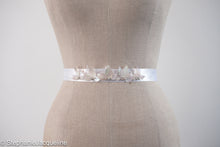 Aphrodite handmade leaf sequin bridal belt
