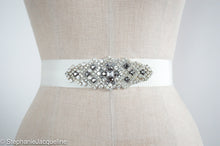 Arabella Hand Beaded Pewter Bridal Belt