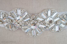 Hand embellished vintage style Arianne Bridal Belt close up