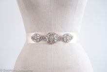 Peach Aurelia hand beaded bridal belt