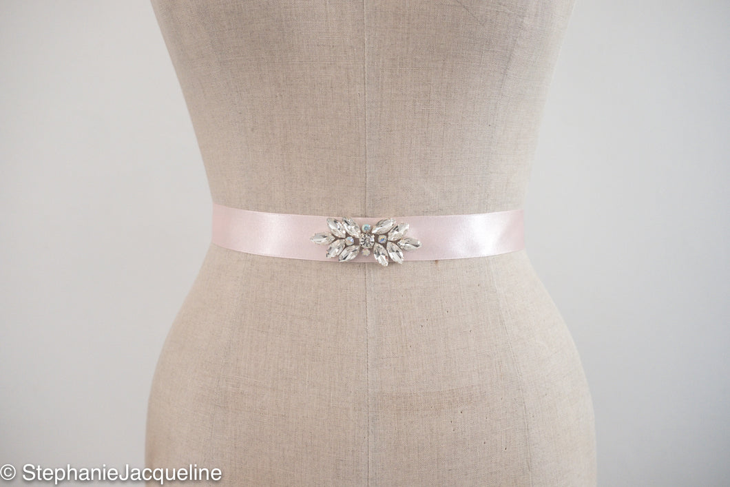 Hand beaded Aurora bridal belt
