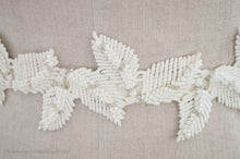 Close up of Adele leaf bridal belt