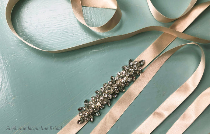 Styled shot of the hand beaded Brea belt