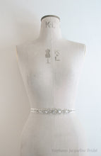 Agatha bridal belt shown on a mannequin
