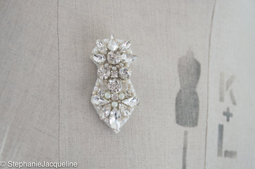 Scarlett hand beaded bridal brooch
