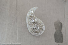 Sofia paisley hand beaded bridal brooch