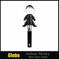 Artisan Money Man Glass Globe (+FREE Wax Vaporizer Pen Kit)