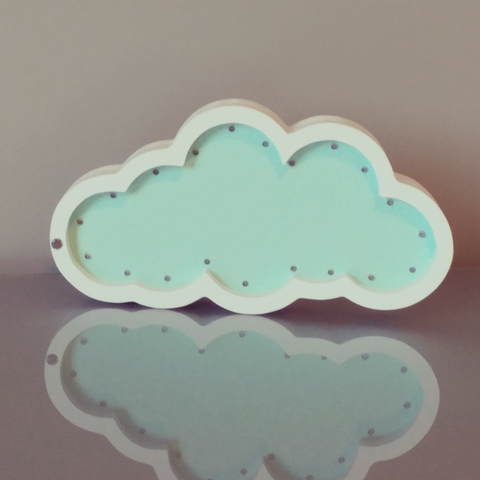 Wooden Letters With Lights - Cloud Marquee Light - WoodsyWorld
