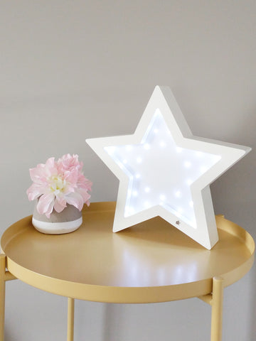 Marquee Sign - Wooden Star Marquee Light - WoodsyWorld