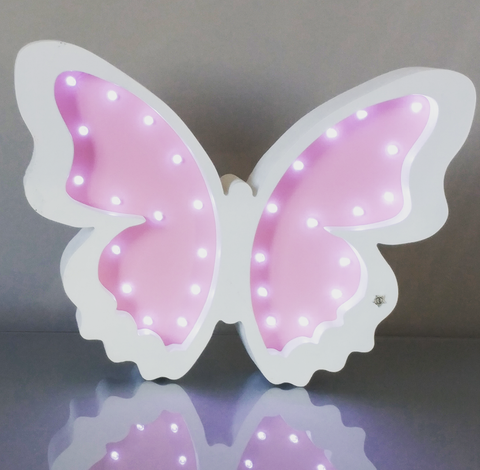 Custom Marquee Signs - Wooden Butterfly Night Light - WoodsyWorld