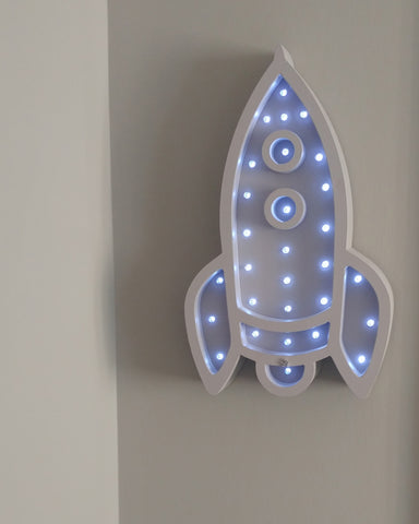 Wood Marquee Signs For Sale - Rocket Marquee Light - WoodsyWorld
