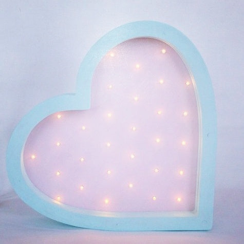 Light Up Love Sign - Heart Marquee Light - WoodsyWorld