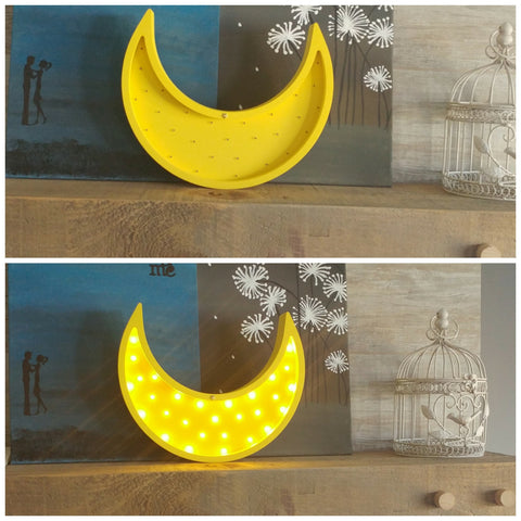 Custom Marquee Signs - Moon Marquee Light - WoodsyWorld