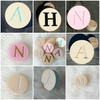Image of Personalized circle wall hook - WoodsyWorld