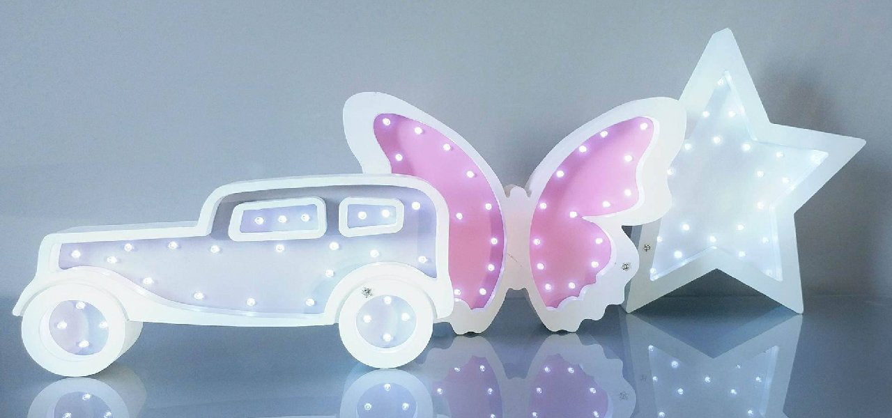 car,butterfly, star light