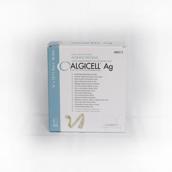 Algicell Ag Calcium Alginate Rope Dressing with Antimicrobial Silver 3/4