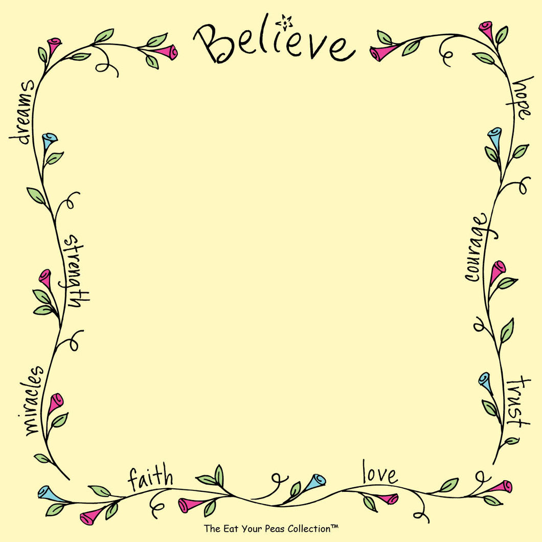 Believe - Sweet Saying's Notepad