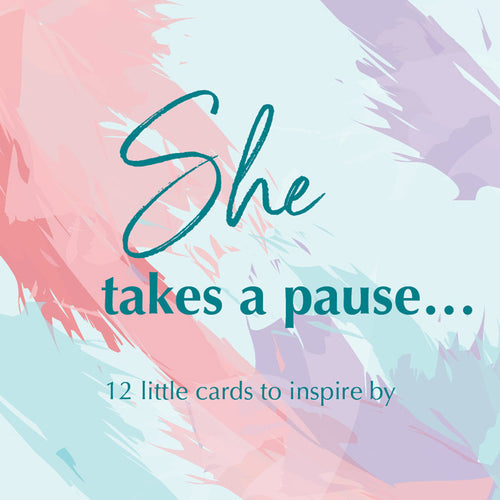 She takes a pause...