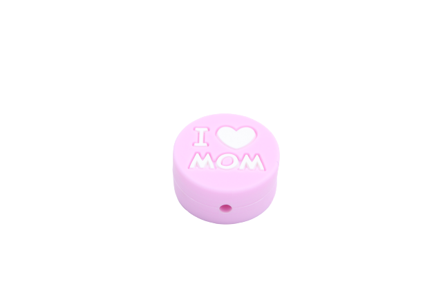 "Perle ""I love MOM"" en silicone"