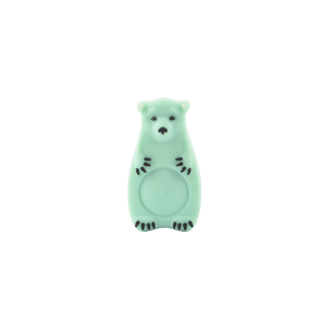 Perle ours polaire en silicone