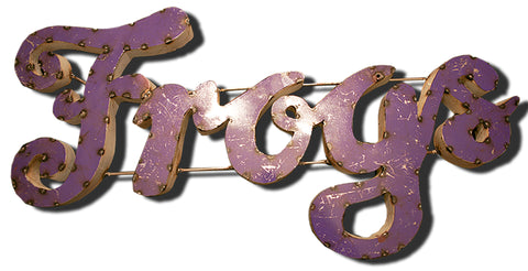 "Texas Christian University TCU ""Frogs"" Recycled Metal Wall Decor"