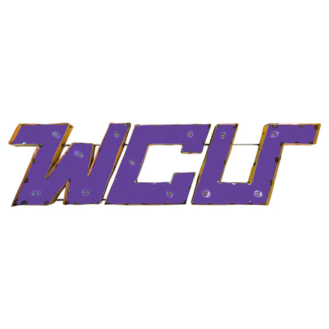 "West Chester University ""WCU"" Lighted Recycled Metal Wall Decor"