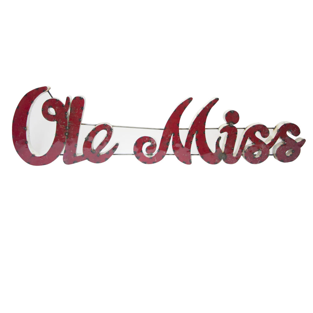 "University of Mississippi ""Ole Miss"" Recycled Metal Wall Decor"