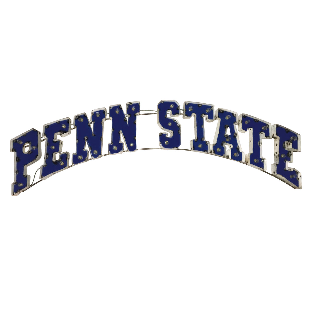 "Penn State University ""Penn State"" Lighted Recycled Metal Wall Decor"
