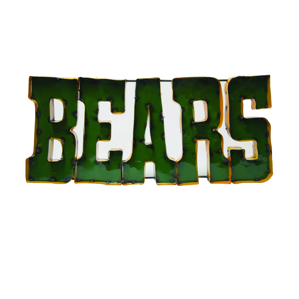 "Baylor University ""Bears"" Recycled Metal Wall Decor"