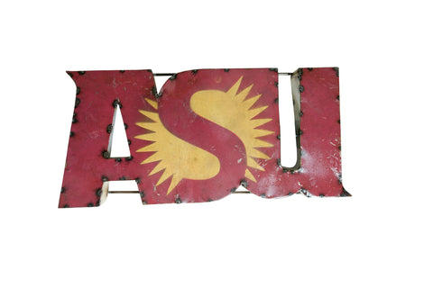 "Arizona State University ""ASU"" Recycled Metal Wall Decor"