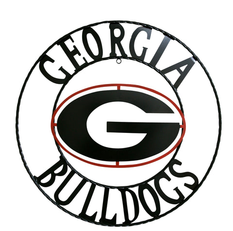 University of Georgia Bulldogs Wrought Iron Wall Decor