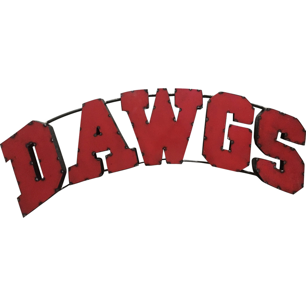 "University of Georgia ""Dawgs"" Recycled Metal Wall Decor"