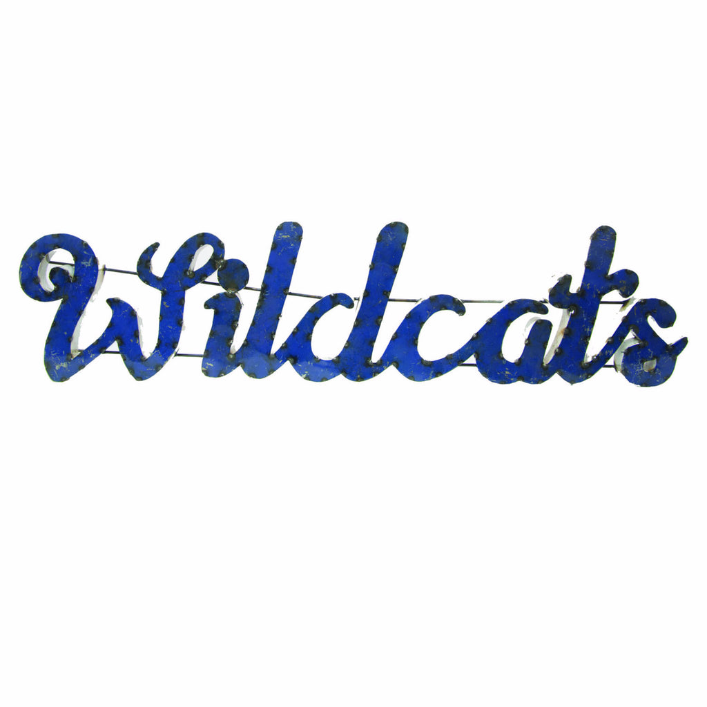 "University of Kentucky ""Wildcats"" Recycled Metal Wall Decor"