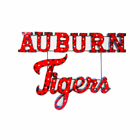 "Auburn University ""Auburn Tigers"" Stacked Lighted Recycled Metal Wall Decor"