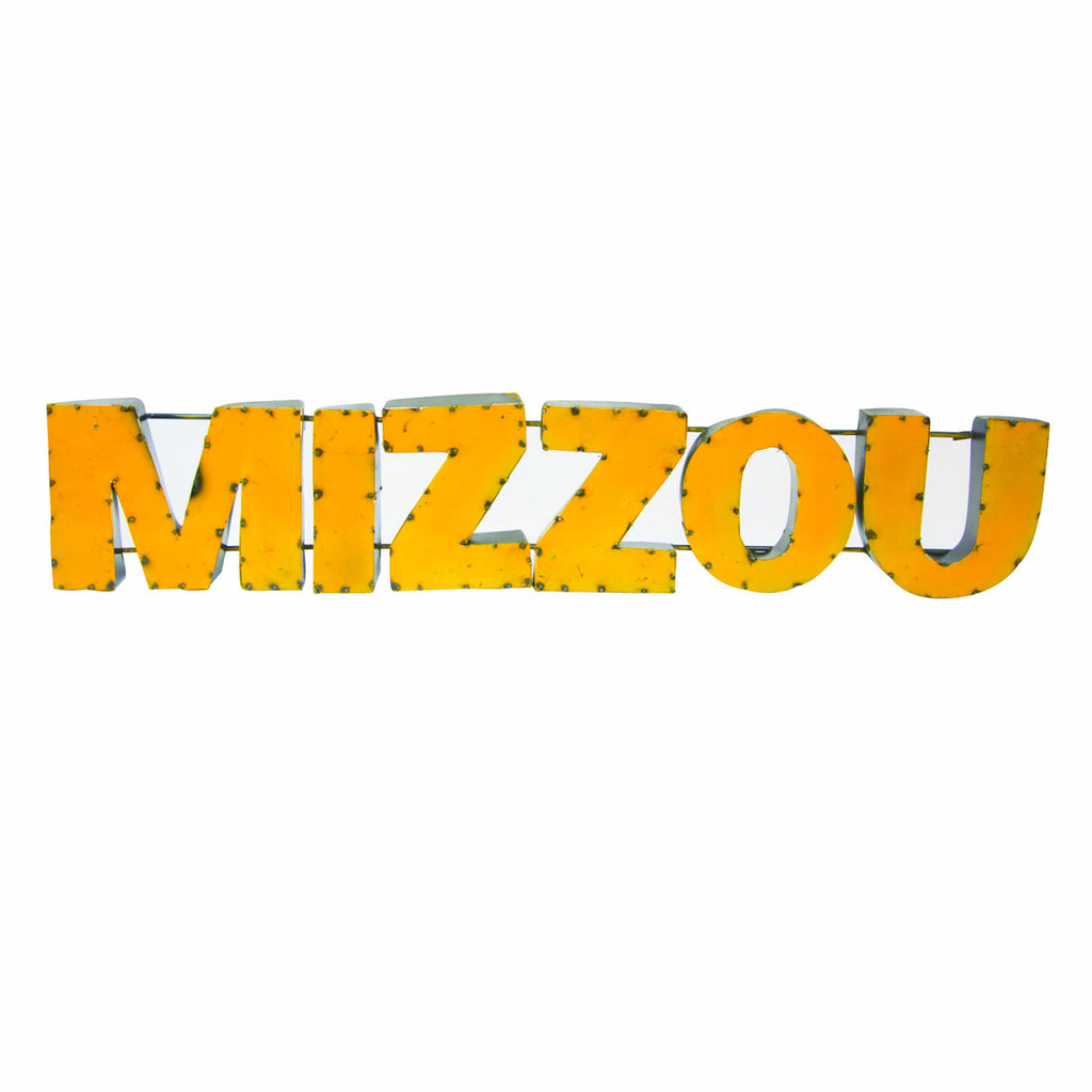 "University of Missouri ""Mizzou"" Recycled Metal Wall Decor"