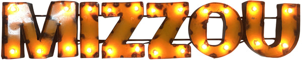 "University of Missouri ""Mizzou"" Lighted Recycled Metal Wall Decor"