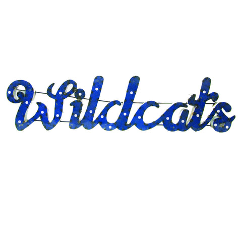 "University of Kentucky ""Wildcats"" Lighted Recycled Metal Wall Decor"