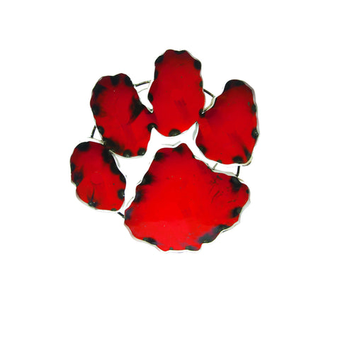 Clemson University Tiger Paw Recycled Metal Wall Decor